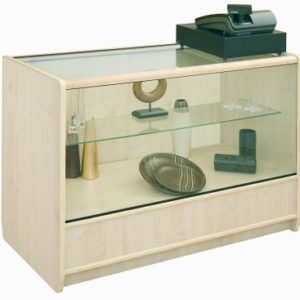 Choice Series 1200mm 2/3 Glass Display Counter - Maple