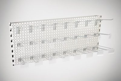 Evolve S50i Back Panel - Perforated - 665x400 - Silver 9006 1