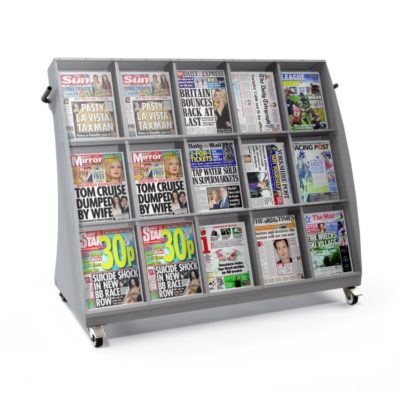 Bartuf B001286 - 15 Face Slimline Outside Newspaper Display Stand