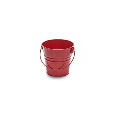 MT025 Small red metal bucket