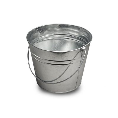 MT038 Large galvanized metal bucket