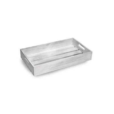 SP260 Small white wooden display tray 1