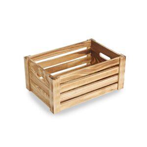 ST091 Medium burnt finish Wooden Crate