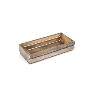 TR215 Small Dark Wooden Crate