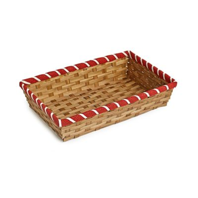 TR235 Bamboo tray with red border 1