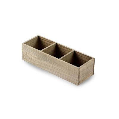 TR242 Wooden box with 3 compartments