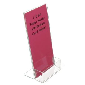 LD4525 - 1/3 A4 Poster Holder with Business Card Holder