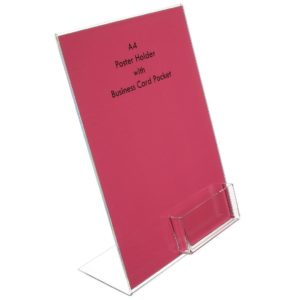 LD4542 - A4 Poster Holder With Business Card Pocket