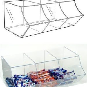 PM9710 - Pick & Mix Dispenser For Wrapped Sweets: 3 Section
