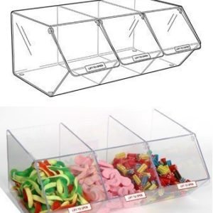 PM9715 - Pick & Mix Dispenser for Unwrapped Sweets: Slat Fix - 495mm (W) x 200mm (H) x 325mm (D)