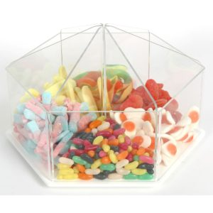 PM9740 - Rotating Pick & Mix Dispenser: 300mm (W) x 200mm (H) x 300mm (D)