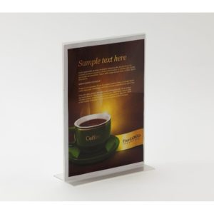 PS8044 - Double Sided Freestanding Poster Holder: A4 Land