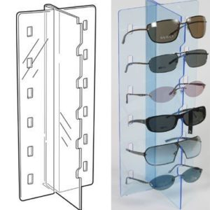 PS9297 - Sunglass Display - Flat Pack - Freestanding: Blue