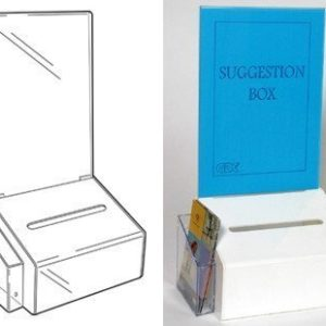 PS9473 - Suggestion Box with A4 Poster Holder: Silver