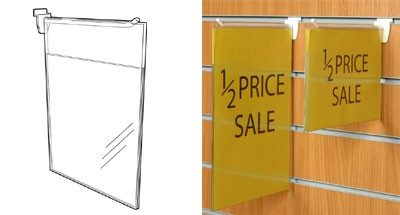 SL1780 - Slatwall Flag Signage - Hangs on Slat Prong Hook: A4 Port 1