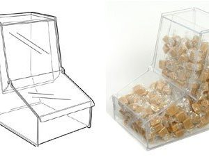 SL2110 - Pick & Mix Gravity Feed Dispenser: Slat Fix - 193mm (W) x 290mm (H) x 280mm (D)
