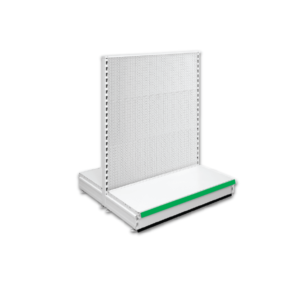 Double Sided Pegboard Gondola Retail Shop Shelving - Jura & Green