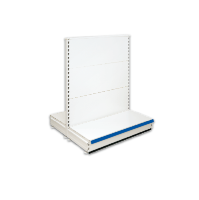 Double Sided Gondola Retail Shop Shelving - Jura & Blue