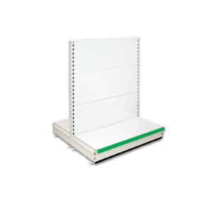 Double Sided Gondola Retail Shop Shelving - Jura & Green