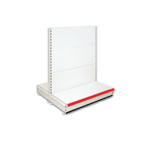 Double Sided Gondola Retail Shop Shelving - Jura & Red