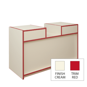 300 Series Convenience Counter - L200cm - Ivory & Red