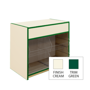 300 Series Crisp Counter - L100cm - Natural Cream & Green Trim