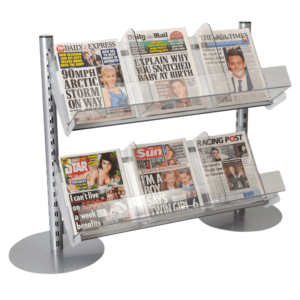 Q50i Queue Merchandising Solution - Newspaper Display