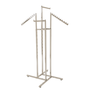 R103 - Waterfall Sloping & Straight Arm Clothes Rail in Chrome