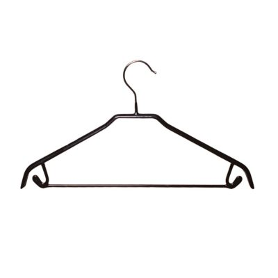 R1039 Non-Slip Suit Hanger with Trouser Bar - 42cm - Black