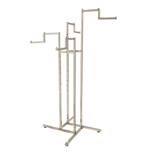 R105 - Stepped 4 Arm Clothes Rail in Chrome