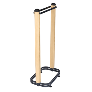 R1386 and R1387 Cladded Twinslot Two Post Hanging Rail