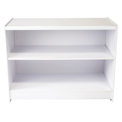 R1501 and R1503 - Sales Shop Counter - White - rear view