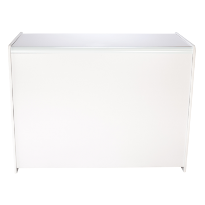 R1501 and R1503 - Sales Shop Counter - White - front view