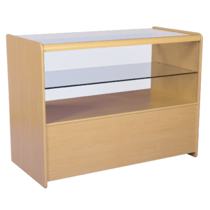 R1506 R1508 Half Glass Showcase Display Counter - Maple