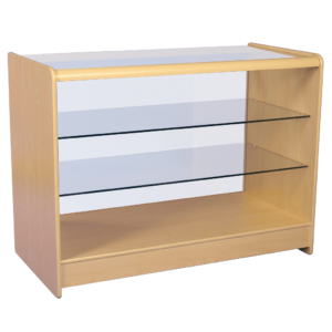 R1510 R1512 Glass Showcase Display Counter - Maple
