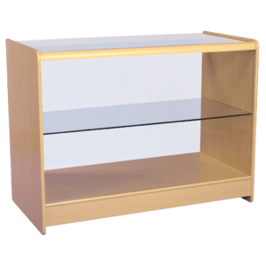 R1514 R1516 Glass Showcase Display Counter - Maple