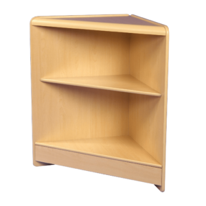 R1518 Open Corner Counter with Timber Shelf - Maple