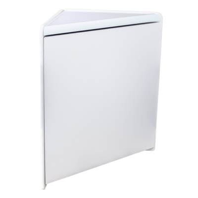 RE1521-White Solid Corner Unit - Side View