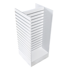 R1523 - H Style Slatwall Display Unit - White