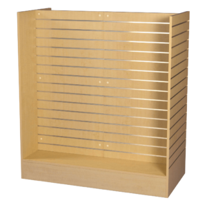 R1526 Maple Slatwall Display Unit