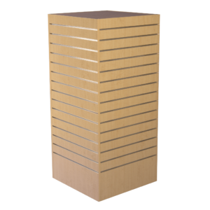 R1528 Slatwall Display Tower - Maple Finish