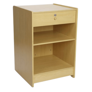 R1534A - Till Stand with Lockable Drawer - Maple