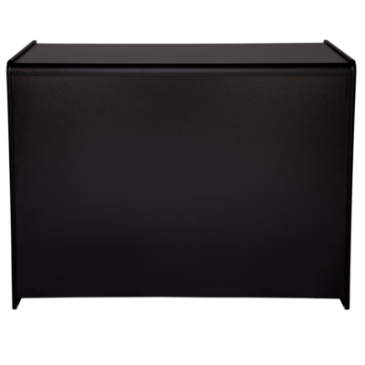 R1535 R1536 - Solid Front Shop Counter - Black - Front View