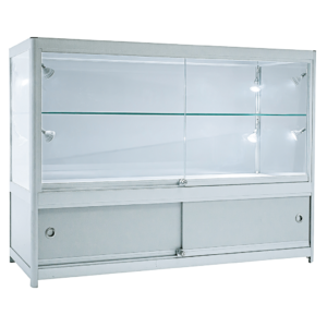 R1553 R1553A R1554 R1554A 2/3 Glass Aluminium Showcase Display Counter