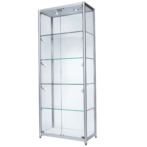 R1562 R1563 R1564 Double Door Aluminium Tower Showcase Display Cabinet