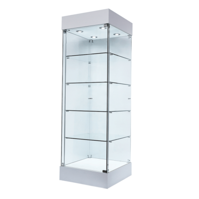 R1567 R1568 Single Door Aluminium Tower Showcase Cabinets