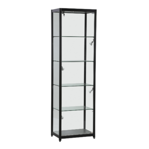 R1573 - Black Single Door Tower Showcase