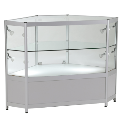 R1593 R1594 2/3 Glass Showcase Corner Counter