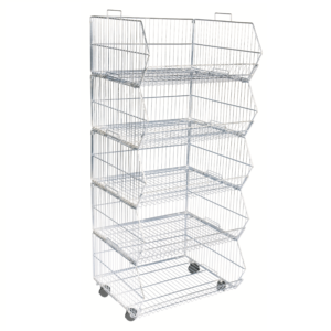 R1628 - 5 Tier Stacking Basket Set - 600mm