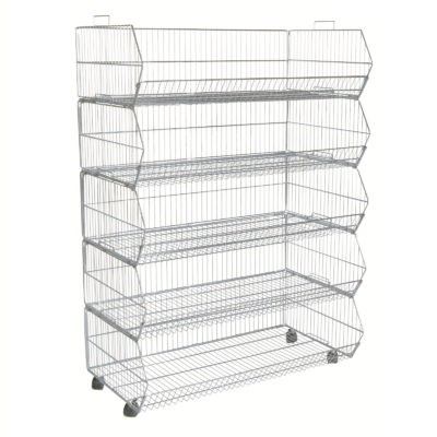 R1629 - 5 Tier Stacking Basket Set - 1000mm